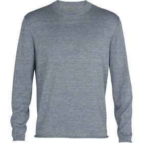 Icebreaker Flaxen LS Crew Sweater Men, gris